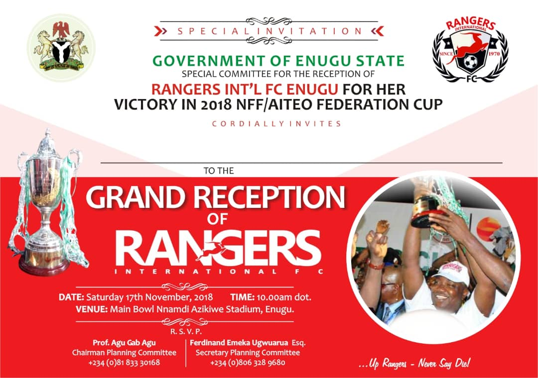 Photos: Grand reception for Rangers International F.C