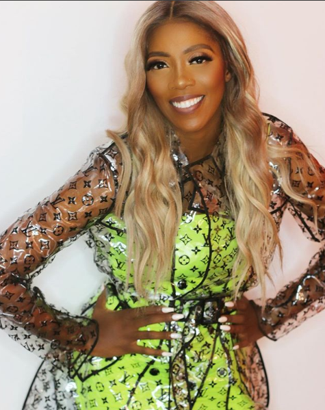 Tiwa Savage Shows Off Her Diamond Encrusted Grills
