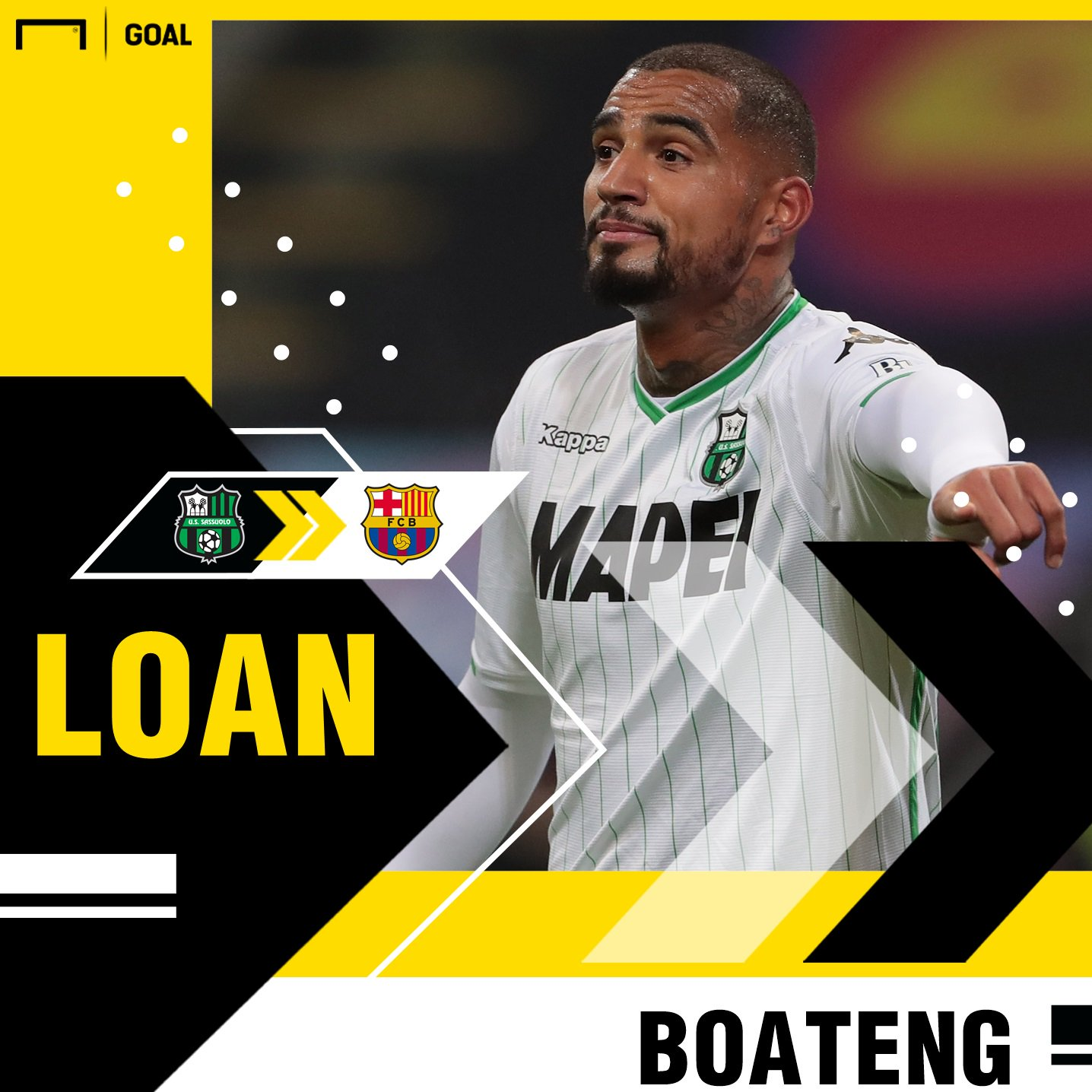 Transfer News: Kevin-Prince Boateng Joins Barcelona From Sassuolo