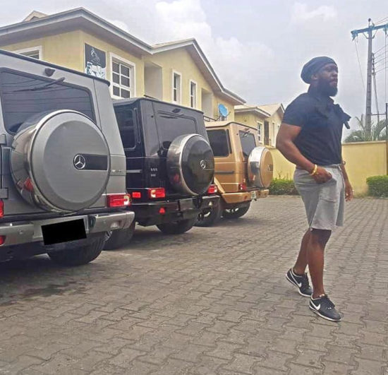 See Timaya's Collection Of Mercedes G-Wagon