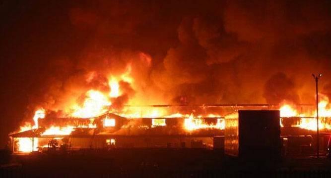 BREAKING: GAS EXPLOSION CAUSES FIRE IN LAGOS, CARS BURNT