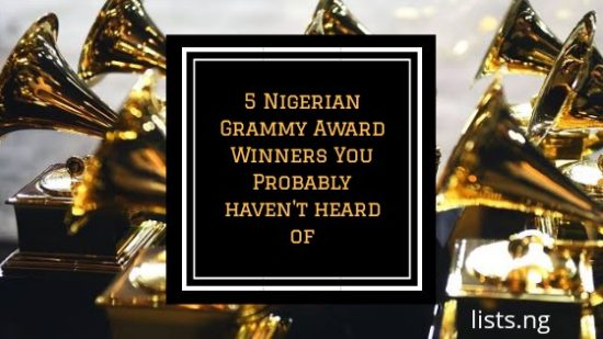 5 Nigerian Grammy Award Winners You Probably Haven't Heard Of