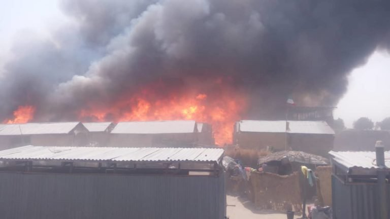 Palace in Agodo, Lagos on Fire